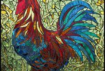 mosaic chicken - birds