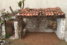 Maison pour crèches de noel