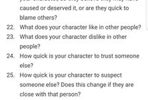 Character questions-pages
