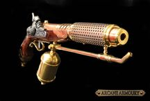 Steam and laser guns