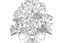 colouring easy flower