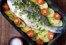 recetas de pescados en ing / comidas que contengan verduras y pescados