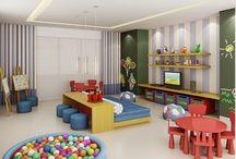 Brinquedoteca e sala de jogos