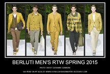Berluti Men's RTW Spring 2015 / Berluti Men's RTW Spring 2015 (Photos) #menswear #berluti Photo Credit Giovanni Giannoni