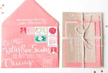 Wedding Stationery / Colours schemes and inspiration