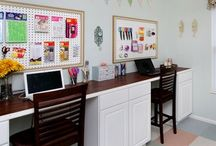 Remake the Office Space / Turning a 4th bedroom into a usable family office space- without being cluttered!