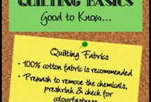 Quilting Basics / Good to Know Information for Beginners to Quilting / by Victoriana Quilt Designs
