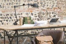 Кабинет / Дизайн интерьера кабинетов мебелью из французского салона Du Bout Du Monde