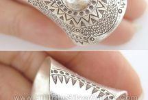 Silver clay/ plata estampada