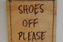 Shoes Off Please, Remove Your Shoes Signs on SALE at ZenGifts.com.au 5% to charity