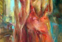 Painted brush..-malowane pędzlem