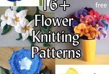 Knitting - flowers