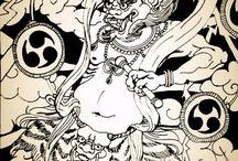 Fujin and Raijin / Szél, és villámlás, mennydörgés Istene