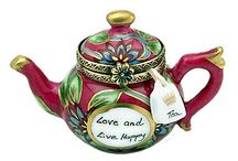 porcelein  teapots and teacups