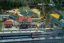 Modellanlagen (fremde) / Eisenbahnanlagen und Dioramen