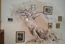 Malování na zeď rodokmenovy strom
