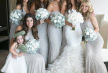 grey bridesmaids dresses