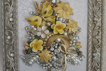 Vintage jewelry and button ideas
