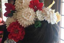 ヘアスタイル (装花)