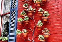 Verticle pot tree