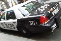 STREET VIEW / 911 POLICE CAR IN CENTAR OF ZAGREB.