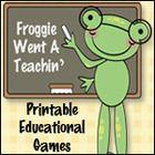 Free Games Froggie Went a Teachin' TpT Store