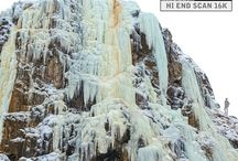 Ice Icefall Waterfall Winter Icicles rock  frozen Stalactite  Mountain Icicle cave game ready scan