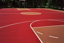 Tennis and Basketball Court Colors / We can install a variety of color combinations for tennis and basketball courts.