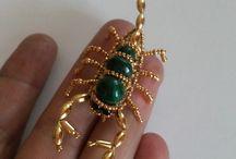 animali e insetti di perline