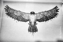 Hawk Tattoo idead