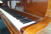 Pianos. French polishing and restoration by Brown's Antiques / We French polish pianos. Scratches removed and pianos repolished. Upright pianos, grand pianos, we can restore them all by hand.
