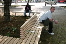 Tustin Estate Project (Southwark) / Factory Furniture were engaged by Southwark Borough Council to design and manufacture a free standing bench, with back and armrests along sections of its length, to surround a large tree planting in Tustin Estate.