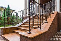 Grande forge, серия СИТИ, кованые лестничные ограждения / Фото лестниц и ограждений, изготовленных нашими мастерами из элементов Grande Forge.