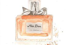 illustration parfums cosmetics