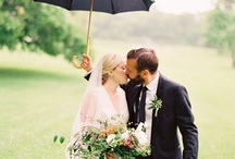 Rain, Rain, Come Again / It was once said that it was good luck to have rain on your wedding day! Don't let rain bring you down, embrace it! Here are just a few ideas that we love.