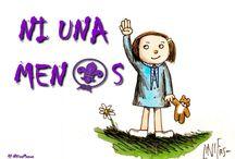Ni Una Menos / Afiches contra la violencia hacia el genero femenino.