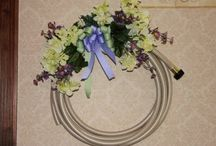 Around the House - Front Door / Front of the house decor - wreaths, front stoop plantings and more.