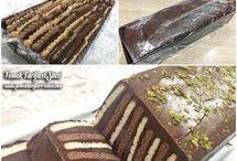 petibör  bisküvi ile pasta