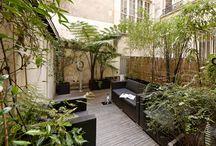 Terrasse F / rénovation totale d'une terrasse extérieure au centre de Paris.