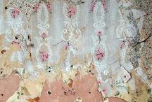 layered torn wallpaper