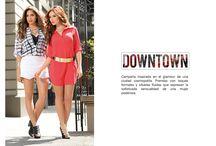 Downtown / Downtown es una campaña inspirada en el glamour de una ciudad cosmopolita. Prendas con toques formales y siluetas fluidas que expresan la sofisticada sensualidad de una mujer poderosa.
