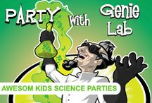 Mind Blowing Science Parties! / Children's Science Parties Genie Lab is a children's science party company based in Guildford Surrey, catering for ages 4 to 12 in Surrey, Sussex and North Hampshire. We produce awesome demonstrations and experiments as well as delivering a competitively priced range of party bags.