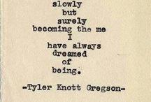 Tyler Knott Greagson / Poetry