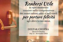 21 giorni di Meditazione con Deepak Chopra - Desiderio & Destino / Ecco la raccolta dei post che ho creato per accompagnare il nostro percorso nella versione italiana del ciclo dei 21 giorni di Meditazione con Deepak Chopra - DESIDERIO & DESTINO che si è svolta nel mese di Luglio 2015