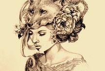 #design #illustration #Face #Tatto