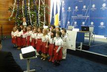 """Colindători la Ministerul de Externe"""" (17.12.2014) / foto: Nicoleta Stoica"""