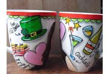 customized hand painted mugs