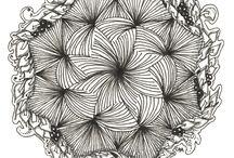 Zentangle (zen+tangle ovvero groviglio intreccio) e Doodles ovvero scarabocchi
