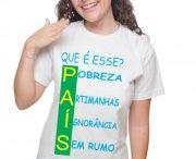Camiseta Protesto / camiseta algodão com várias cores, modelos e tamanhos.
