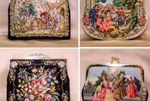 needlepoint purse